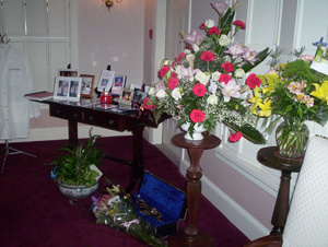 Memorial at Stephen Typaldos's funeral
